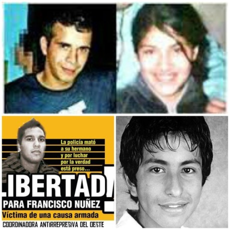 Arriba: Mario Ortíz y La China, asesinados por el SPF. Abajo: Otra causa armada y Luciano Arruga, cuyos desaparecedores fueron impunizados por el sheriff Granados