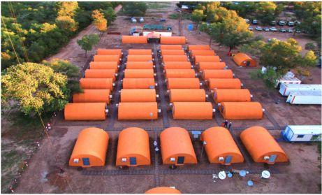 Campamento de President Energy en la zona del Pilcomayo durante la exploración en los bloques Pirity y Demattei (ABC Color).