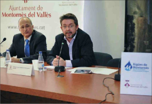 L'alcalde, Jose Antonio Montero, i el gerent de CONGIAC, Albert Testar