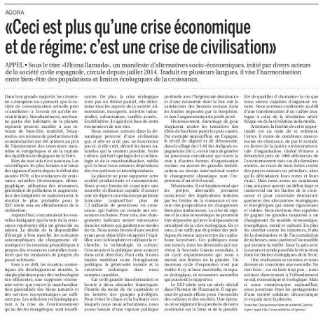 Ceci est plus qu'une crise économique et de régime: c'est une crise de civilisation